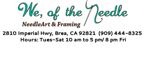 We, of the Needle - NeedleArt & Framing Home
